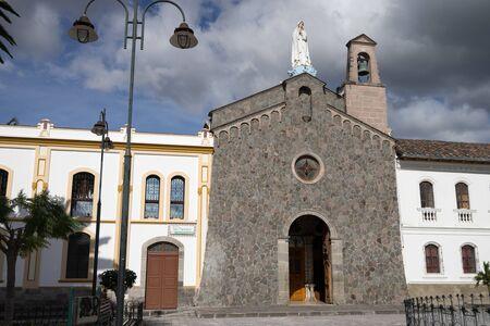 colonial church: colonial church building in Ibarra Ecuador