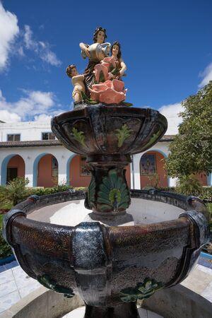 detai: colonial style water fountain in Ecuador