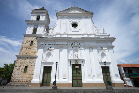 church facade in Santa Fe de Antioquia Colombia