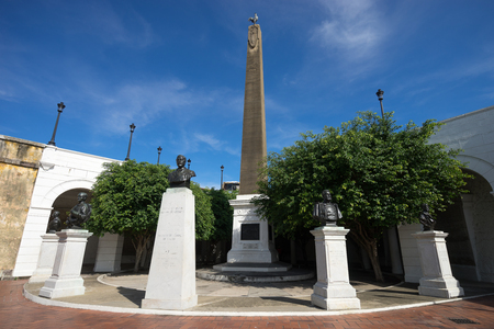 building exteriors: the monument at French square in Casco Viejo Panama City Editorial