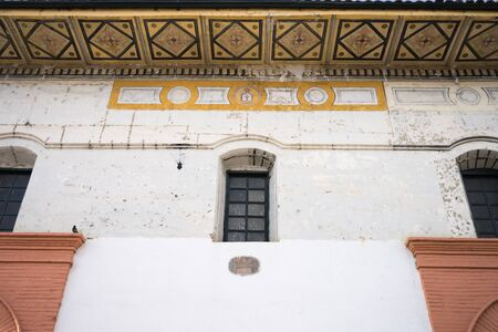 colonial building: white colonial building facade in Popayan Colombia Stock Photo