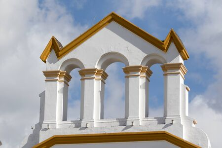 colonial church: colonial architectural details in Ecuador Stock Photo