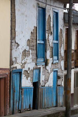 colonial building: derelict colonial building in Filandia Stock Photo