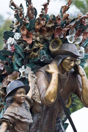 silettero statue in Santa Elena Colombia