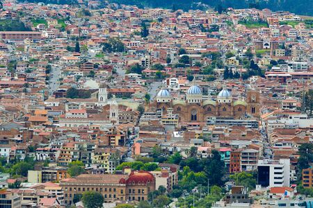 cuenca: the city of Cuenca Ecuador seen from above