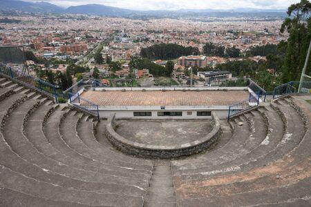 viewing platform above the city of Cuenca Ecuador