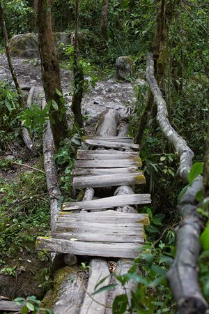 rustic bridge in Colombia