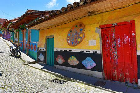 Colourful architecture in Guatape Colombia