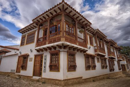 July 13, 2017 Villa de Leyva, Colombia: by architectural control law the newly buit buildings in the town has to match the colonial style Editorial