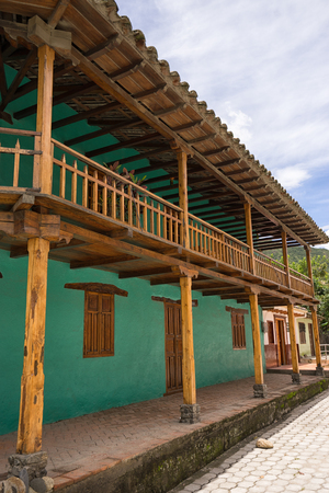 March 12, 2017 Vilcabamba, Ecuador: colonial architecture in the remote indigenous town known for longevity Stock Photo