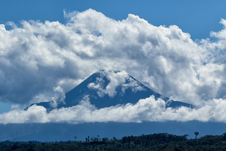 the Sumaco is an isolated distinct volcano off the main axis of volcanoes Stock Photo
