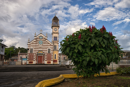 Archidona, Ecuador: church in the centre of the small town in the Amazon area which was an important center for missionaries in the colonial times Stock Photo