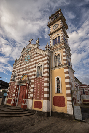 Archidona, Ecuador: church in the centre of the small town in the Amazon area which was an important center for missionaries in the colonial times Stock Photo - 87783465