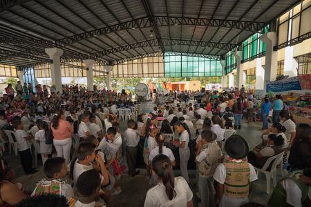 June 5, 2017 Lago Agrio, Ecuador: environmental rally in the centre of the oil production town