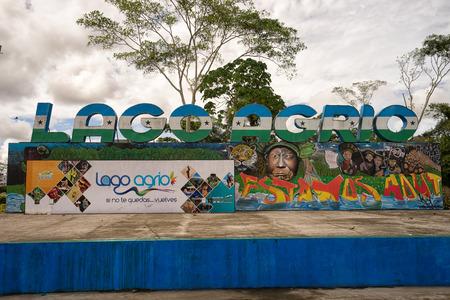 June 5, 2017 LAgo Agrio, Ecuador: the centre of the oil town also knownas Nueva Loja