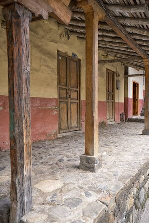 March 12, 2017 Vilcabamba, Ecuador: colonial architecture in the remote indigenous town