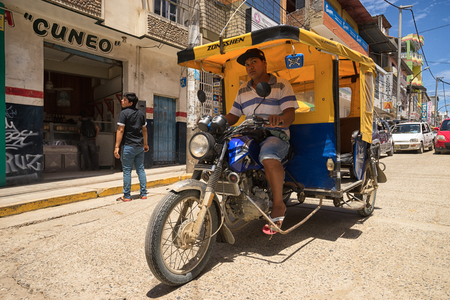 March 19, 2017 Tumbes, Peru: mototaxi is a cheap form of intracity transportation