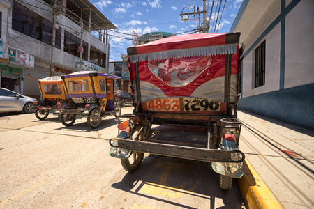 March 19, 2017 Tumbes, Peru: mototaxis are a popular and cheap method of transportation Redakční