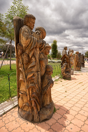 San Antonio, Ecuador: the town is known for its extensive wood carving production Reklamní fotografie
