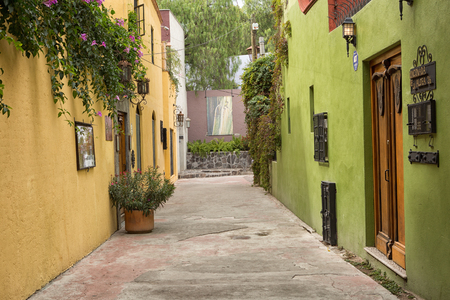 November 19, 2014 San Miguel de Allende, Mexico: narrow streets with colonial architecture are a main feature of the popular tourist destination town