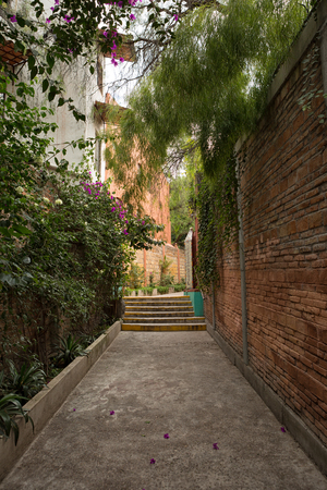 San Miguel de Allende, Mexico: narrow streets with colonial architecture are a main feature of the popular tourist destination town