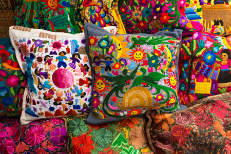 Chichicastenango Guatemala Indigenous Handcrafted Pillow Covers Custom Guatemalan Pillow Covers