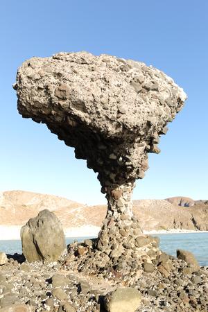 balancing rock at Balandra Beach, La Paz , Baja California, Mexico Reklamní fotografie