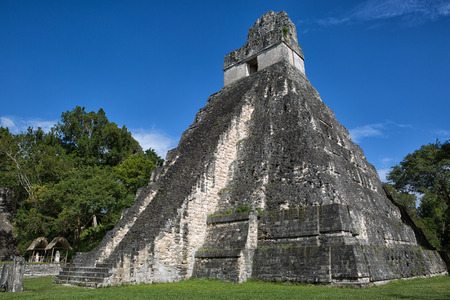 the temple of the Great Jaguar also known as temple one at Tikal national park in Guatemala