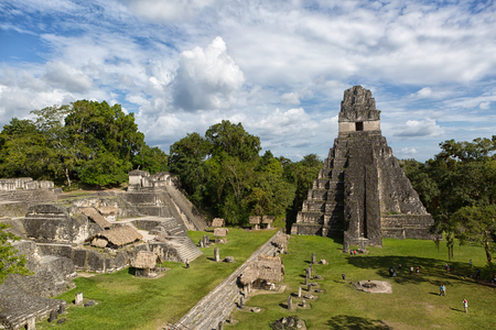 TIkal, Guatemala: Temple of the Jaguar also known as temple one at the main plaza of Tikal national park