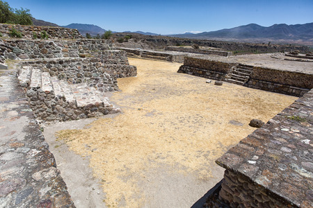 the ruins of Yagul Oaxaca Mexico 版權商用圖片