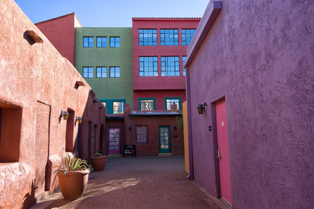 December 5, 2015 Tucson, Arizona: the colourful complex of La Placita in the downtown area is going to be demolished