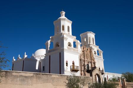 the San Xavier del Bac mission in Tucson Arizona
