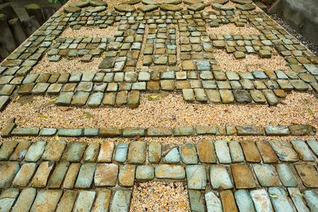 Villahermosa 멕시코의 라 벤타 고고학 공원에서 pre-hispanic olmec 돌 모자이크 스톡 콘텐츠 - 88308798