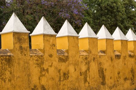 colonial architectural details in Cholula Mexico