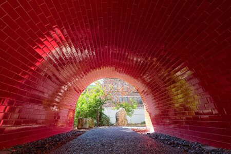 red tiled tunnel at the San Antonio River Walk