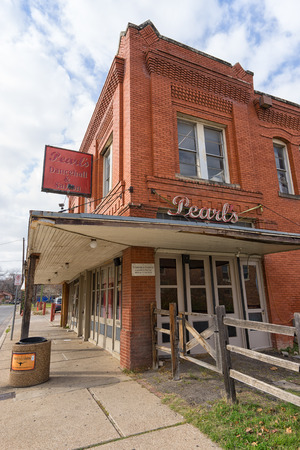 december 25: December 25, 2015 Fort Worth, Texas, USA: the historic building of the Pearls cowboy friendly dance hall and saloon dating back in the 1800s Editorial