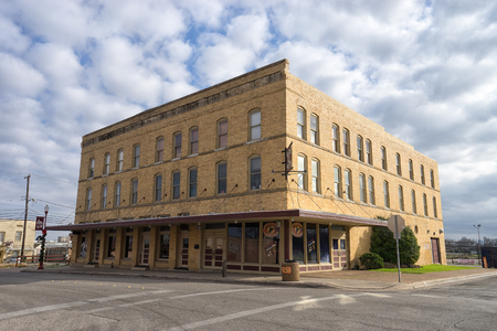 December 25, 2015 Fort Worth, Texas, USA: the historic building of the Rodeo Exchange cowboy friendly concert and dance hall