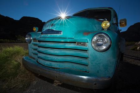 vintage truck closeup