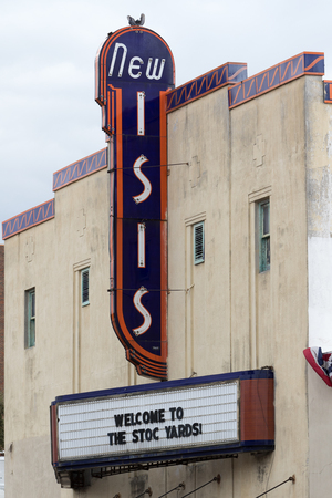 the new isis historic cinema building in fort worth texas Editorial