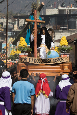 Easter procession in Guatemala Editorial