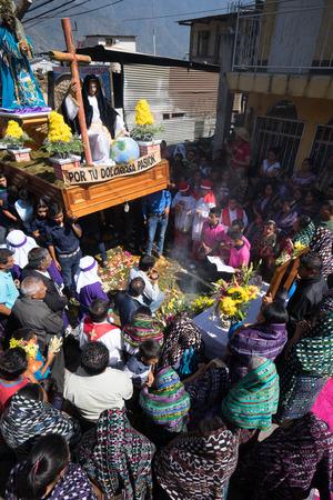 Easter procession in San Pedro la Laguna Guatemala