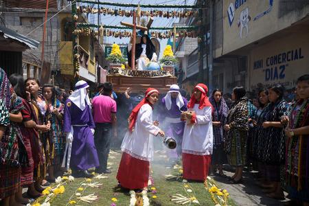 Eastr procession in San Pedro la Laguna Guatemala