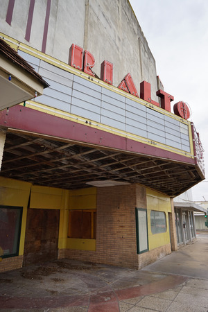 abandoned theater in Alice Texas