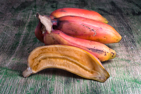 closeup of cut red banana variety in South America Zdjęcie Seryjne