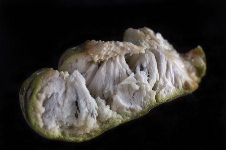 soursop fruit flesh closeup