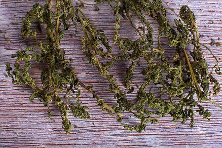 dried wormseed herb