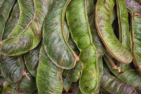 guama fruits closeup in Ecuador