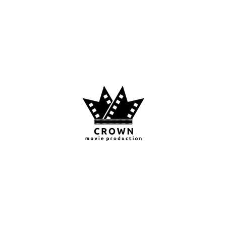 Film Strip Cinema Abstract  Design Template, Roll and Crown Icon