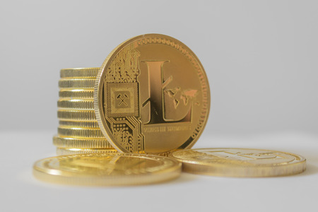 Litecoin LTC and cryptocurrency investing concept