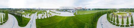 Krasnodar, Russia - May 2018: Panoramic view of Krasnodar Stadium